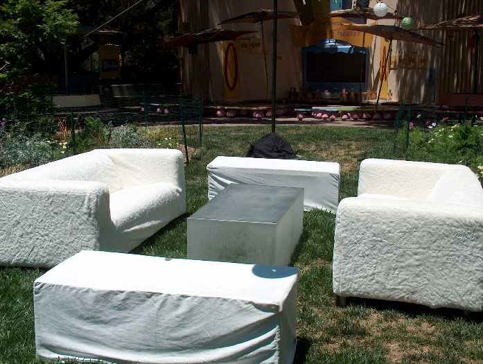 White Furniture Lounge Rentals