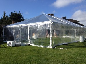 Heated Clear Top Tent