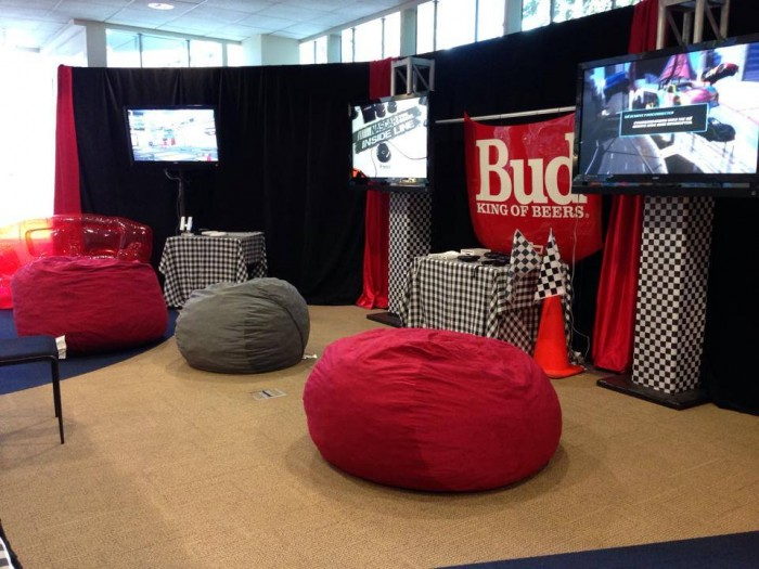 Checkered Flags, Bean Bag Chairs, Bud Racing Hood Etc